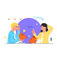 family become short money during pandemic vector image