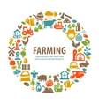farm logo design template farming harvest vector image vector image