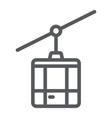 funicular line icon travel and tourism cableway vector image