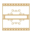 Gold vintage frame with vegetable elements vector image vector image