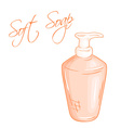 hand drawn of isolated liquid soap bottle vector image vector image