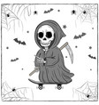 happy halloween scary and spooky drawing vector image vector image