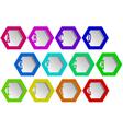 hexagons vector image vector image