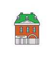 historic building line icon concept historic vector image