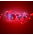 holiday background with red hearts vector image vector image