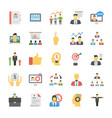 human resource flat icon pack vector image vector image