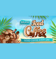 iced coffee banner on bokeh background vector image vector image