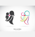 icon a mom and baon white background vector image