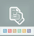 infected file icon vector image vector image