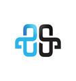 initial letter es design logo vector image vector image