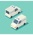 isometric bank car icon vector image vector image