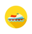 Jet Ski flat icon with long shadow vector image