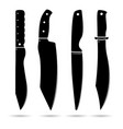 knife set on white background vector image
