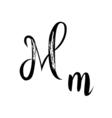 Letter alphabet calligraphy Handwritten vector image