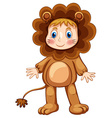 Lion costume vector image vector image