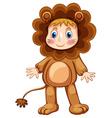 Lion costume vector image