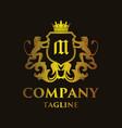 luxury letter m logo vector image vector image