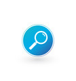 magnifying glass icon in circle flat style vector image vector image