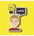 man teamwork idea icon vector image