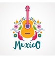 Mexico music and food elements vector image vector image