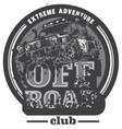 off-road car logo mud terrain suv expedition vector image vector image