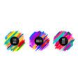original circular emblem paint brush colorful vector image