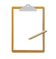 paper sheet document note holder empty vector image vector image