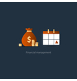 Pay day monthly payment calendar time period icon vector image