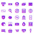 payment gradient icons on white background vector image