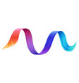rainbow paint line isolated cartoon design vector image vector image