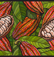 seamless pattern or background a cocoa vector image