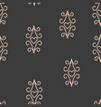 seamless pattern with hearts and elements vector image vector image