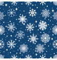 seamless pattern with snowflakes on the christmas vector image vector image