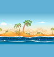seamless tropical beach landscape vector image vector image