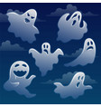 set ghosts with different emotions on sky vector image