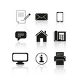 set of contact message icons vector image