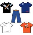 shirts and pants vector image vector image