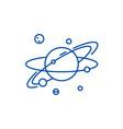 solar line icon concept solar flat symbol vector image vector image