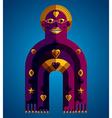 Spiritual totem meditation theme drawing A