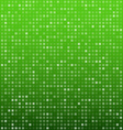Squares green technology pattern vector image vector image