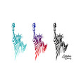 statue liberty in united states vector image vector image