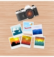 Travel photos with camera vector image vector image