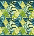 trendy patchwork abstract seamless pattern vector image