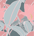 tropical plant seamless pattern3 vector image vector image