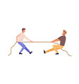 tug war man versus guy flat vector image