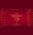 valentine day red background with glitter vector image