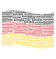 waving german flag collage of success texts vector image