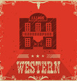 western saloon poster background vector image