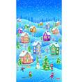 winter landscape vertical vector image vector image