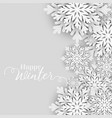 winter snowflakes merry christmas festival vector image
